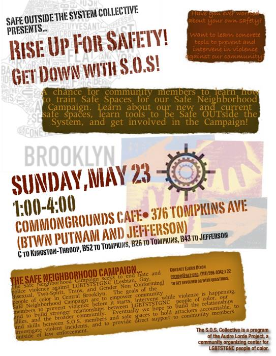 May 23rd, NYC: Rise Up For Safety